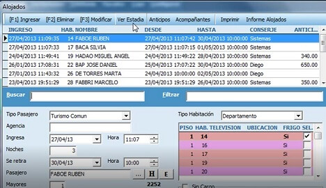 software gestion hotelero gastronomico base de datos cliente
